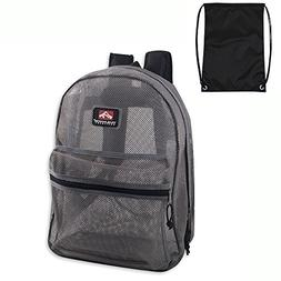Trailmaker Classic Mesh Backpack  with Free Drawstring Bag