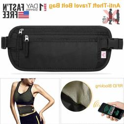 Travel Money Belt Hidden Waist Security Wallet Bag Passport