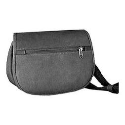 David King Leather Unisex  401 Flap over Waist Pack Black Si