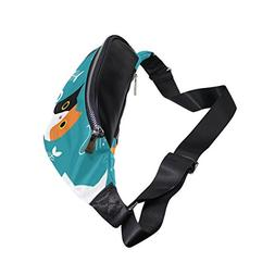 Waist Bags, Cute Cat Fish Blue White Black Shoulder Crossbod