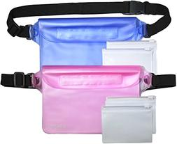 Waterproof Pouch - 2 Dry Pouches - 4 Valuable Bags - Adjusta
