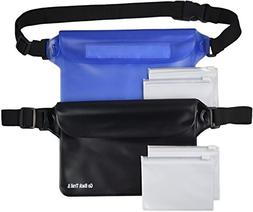 Waterproof Pouch  with Waist Strap for Men & Women - BONUS 4