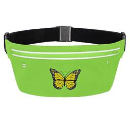 Stityshi Yellow Butterfly Running Belt Waist Pack Invisible