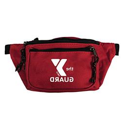 Standard YMCA Guard 3-Pocket Hip Pack in Red